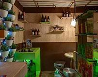 Adega e estúdio do cervejeiro