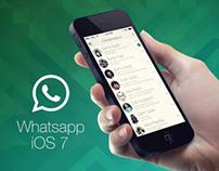 WhatsApp iOS 7 Redesign Concept