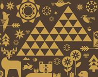 Four Seasons Resort Whistler Gold Foil Notecard