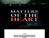 MATTERS OF THE HEART interactive page design