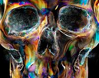 Skull Bubble | printed tee design