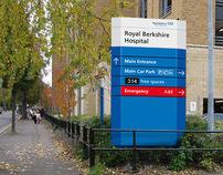 Royal Berkshire Hospital external wayfinding