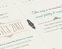Celebrities Wedding Songs Infographics