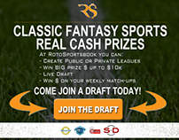 Landing Page for Fantasy Sports Site
