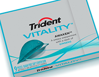 Trident Vitality | New Product Packaging Design