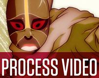 Illustration Process Video - Rocky
