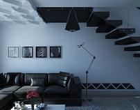 Modern living room in Yemen