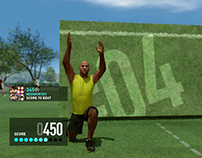 Nike+ Kinect Training UI