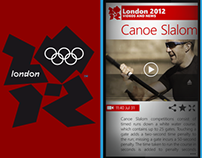 Olympic games hub - app concept for Windows Phone