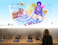 "Apple Ipad / ""Creativity On The Go"" Campaign"
