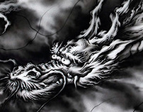 Japanese Dragon~airbrush#4