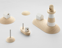 ARCIPELAGO, set of wooden toys