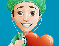 Surgeon Cartoon Character