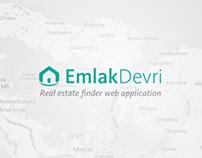 EmlakDevri Real Estate Finder Web Application UI