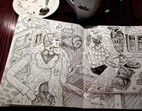 Sketchbook and Coffee III
