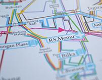 peta rute bemo Surabaya