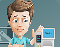 Medical Assistant Cartoon Character