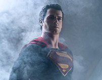 Man of Steel Life Size Statue Shoot