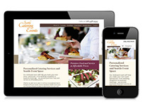 Seattle Catering Events Responsive Website