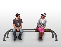 Near and far bench