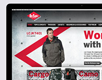 Lee Cooper Workwear website