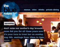 The Blue Room restaurant identity and website