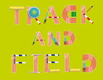 Track&Field (free ilustrated typeface)