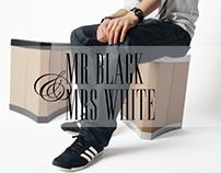 Mr Black & Mrs White - All-round cardboard furniture