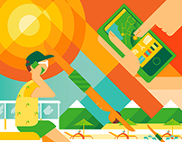 Editorial Illustration for Sunday Times Travel
