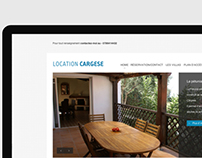 """Website """"Location Cargese"""""""