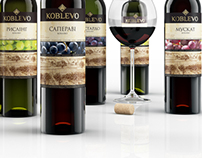 Rebranding label for Koblevo wines