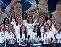 2012 UNC Volleyball Team Poster