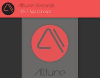 Alltune Records iOS 7 app Concept