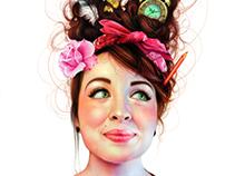 Colored Pencil self portrait 2012