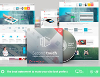 Second Touch — Powerful metro styled wordpress theme
