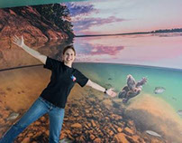 Lake Murray Wildlife Center photo installation