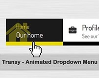 Transy - animated dropdown menu