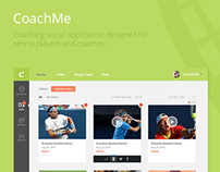 CoachMe Application for Tennis Players & Coaches