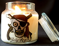 Jolly Roger Candles - Burning Ship Scent