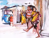 Watercolor Calendar 2013- Mumbai Cricket Association