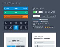 Flat iOS UI Kit