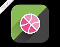 FREE Flat App Icon Long Shadow Dibbble EPS 8 vector