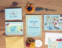 nautical inspired wedding stationery