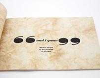 """And I Quote"" Design Quotes Book"
