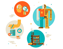Ethical Outsourcing Icon Illustrations