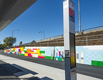 """dot"" the Sunshine Bus Interchange Mural"