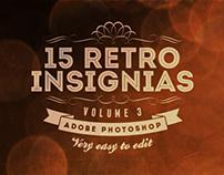 15 Retro Insignias - Badges v.3