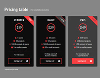 Flat Pricing Tables 2