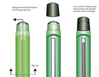 Rendering of a unique pen concept in Illustrator