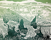 World Ecosystem woodcut